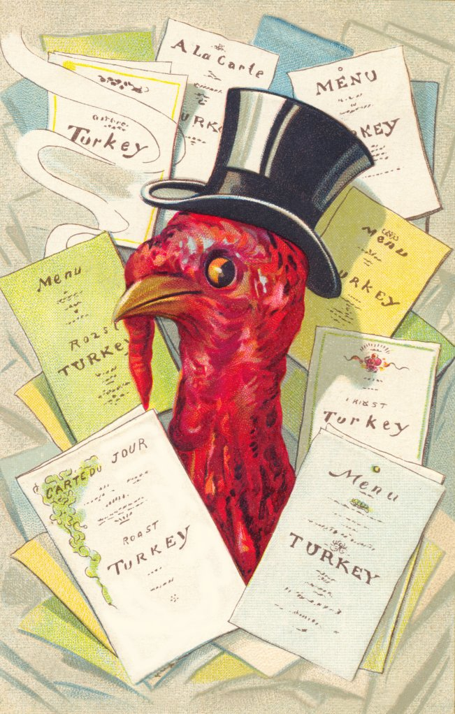 Thanksgiving Turkey Menu Graphic