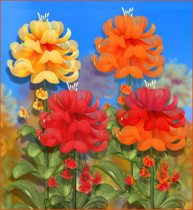 Free Autumn Fairy Flower Graphics