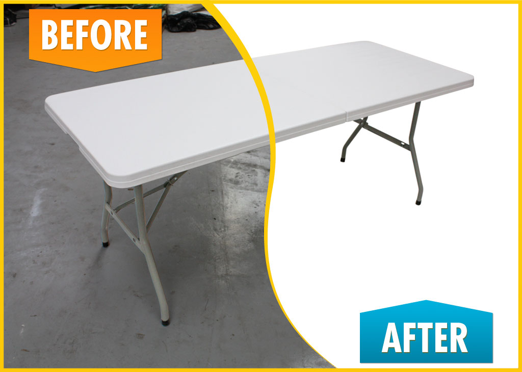 Folding Table (Before and After)
