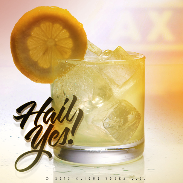 "The ""Hail, Yes!"" cocktail created especially for Pittsburgh Yellow Cab's 100 yr Anniversary!"