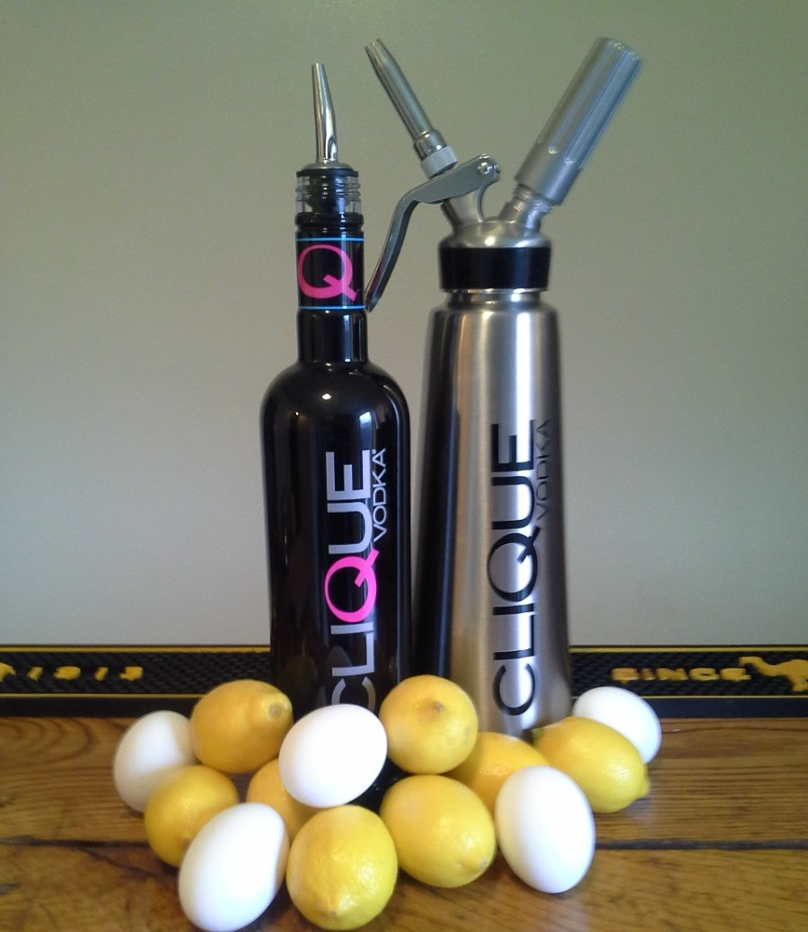 Ingredients for an egg white cocktail