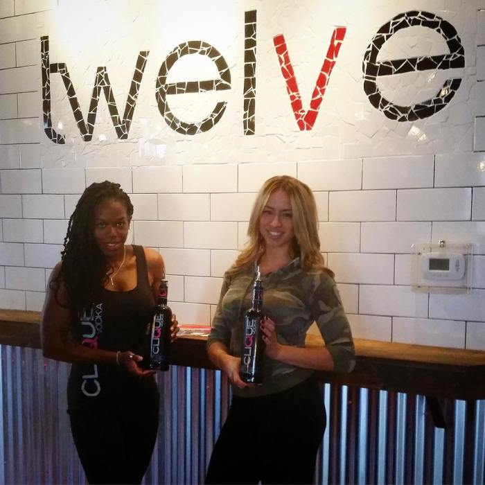 Some friends reppin the black bottles down at twelvepgh inhellip