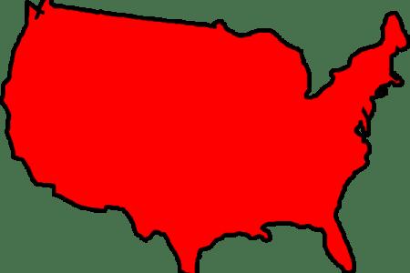 red map usa clip art at clker.com vector clip art online