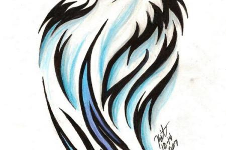 13099113961129773055tribal wolf tattoo by reighnmiyuki