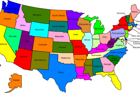 us map with states clip art at clker.com vector clip art