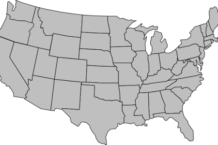 united states of america map outline gray clip art at