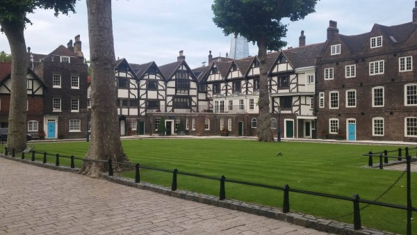 The incredible courtyard in the Tower of London, where many key historical moments took place.