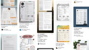 CV Templates from Pinterest