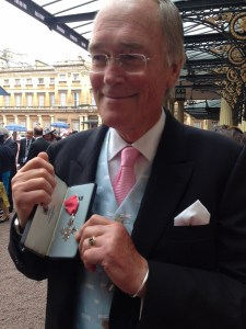 Guy Woodford Receiving his MBE