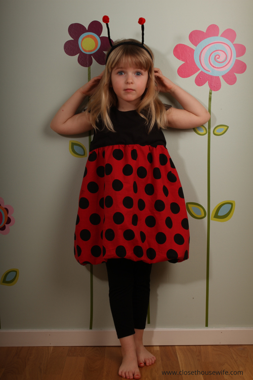 Trying to be a serious ladybug