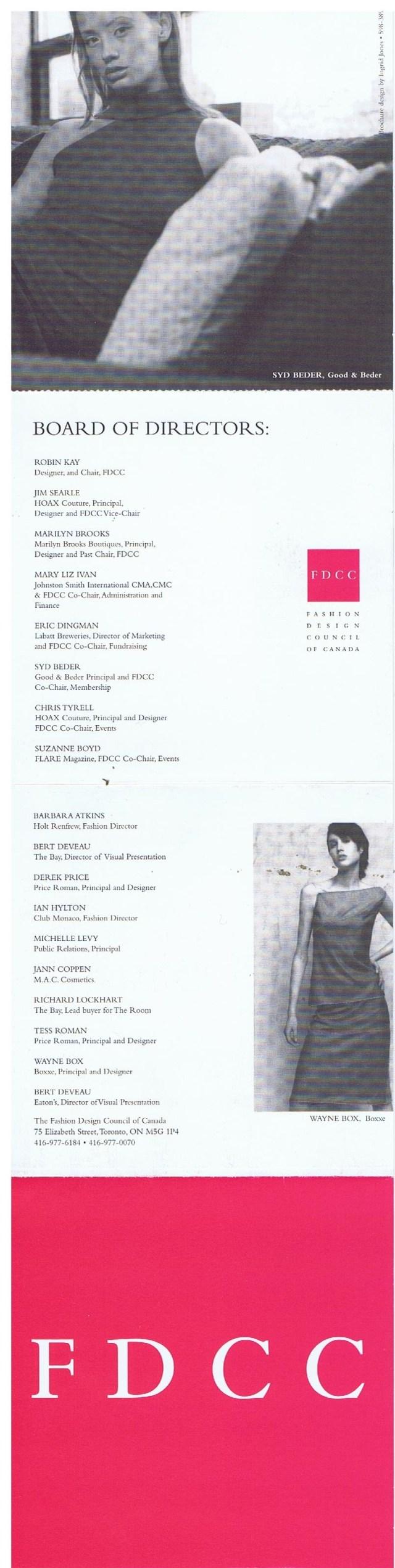 Fashion Design Council Of Canada Fdcc