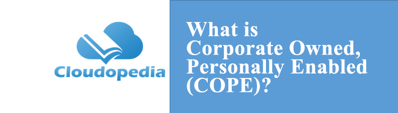 Definition of Corporate Owned, Personally Enabled (COPE)