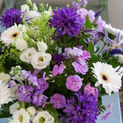 Mixed Flower Bouquet in Shades of Purple and Violet Cloverhome
