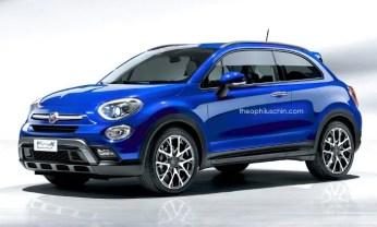 Fiat 500X Coupè nuovo rendering tre porte