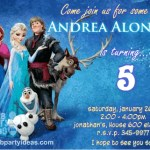 Disney Frozen friends printable birthday party invitations