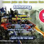 transformers optimus prime birthday invitations free custom