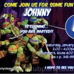 Teenage Mutant Ninja Turtles Custom Invitations free