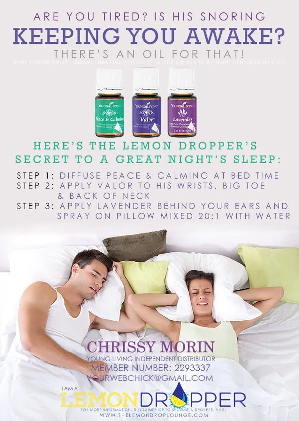 stop SNORING with young living essential oils