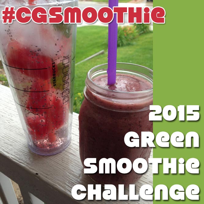 Clumsy Gourmet 2015 Green Smoothie Challenge