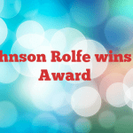 Ben Johnson Rolfe wins Sports Award