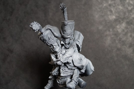 'French Hussar Carrying Drummer Boy' (200mm) by Rich Bailey