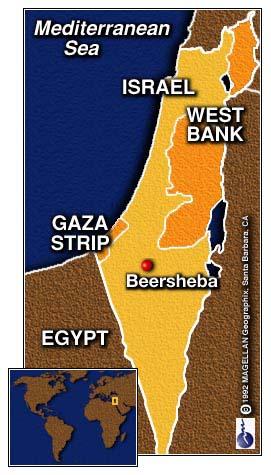 map of beersheba