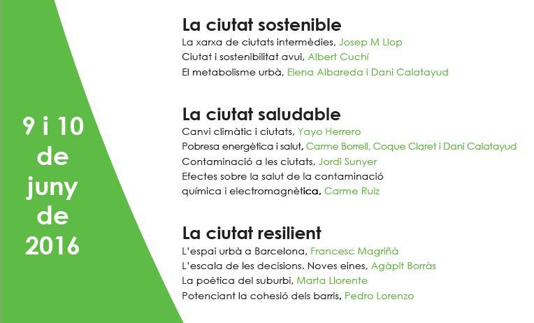 Cartell i díptic Jornades d'Arquitectura i Ciutat