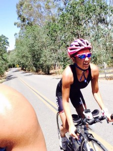 VINEMAN triathlete Laura Butler on the bike
