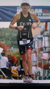 Sherry Boston Rennard running in IRONMAN Mont-Tremblant Worlds