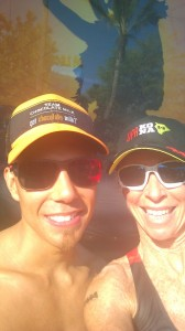 Sherry Boston Rennard with Apolo Ohno