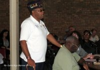 Chaplain Claude Hilliard of the Montford Point Marine Association during the Town Hall Meeting, Saturday, September 20th.