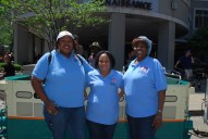 National Women Veterans United (NWVU) members Sharon Stokes -Parry, Sophia Murry and Portia Thompson. NWVU is a member of CVO.
