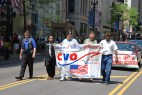 CVO marching down State Street in the 2015 Memorial Day Parade