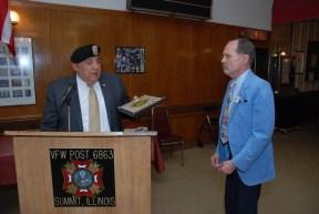 Larry Nazimek receives Jim Profit Award