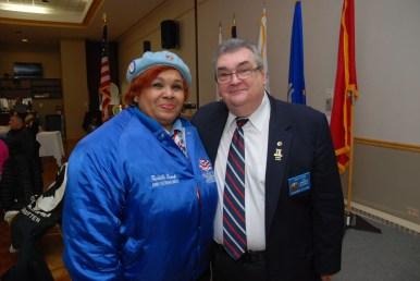 Rochelle Crump (NWVU President) and John Steciw (VACCC Commander)