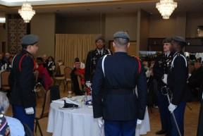 Phoenix Military Academy JROTC Color Guard honors fallen veterans