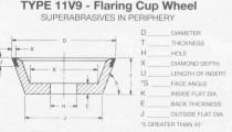 11V9 Flaring Cup Wheel