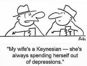 Keynesian Wife, Spending Herself Out of Depression