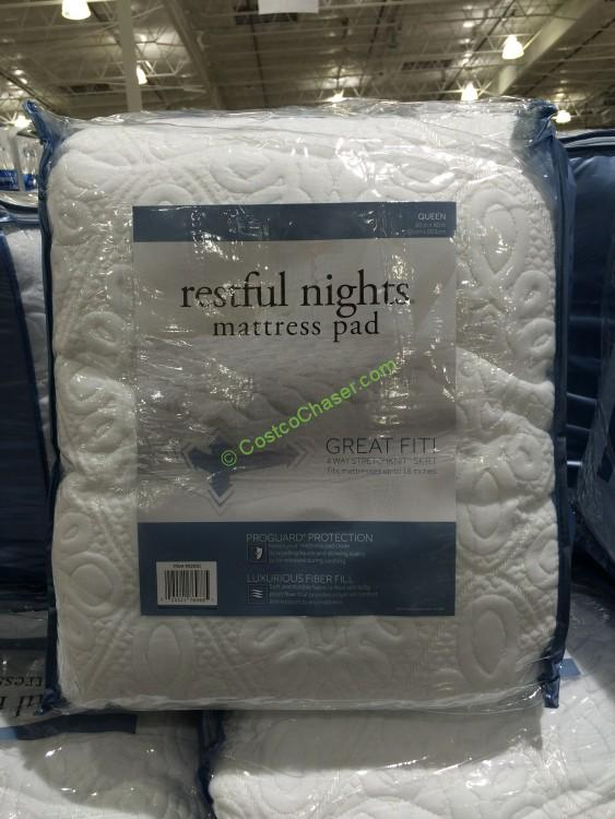 restful nights mattress pad queen - Costco Mattress Topper