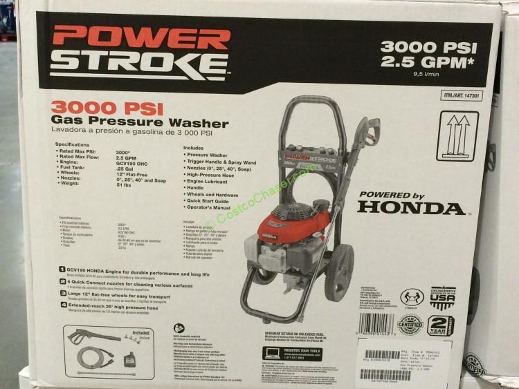 powerstroke psi pressure washer powered by honda