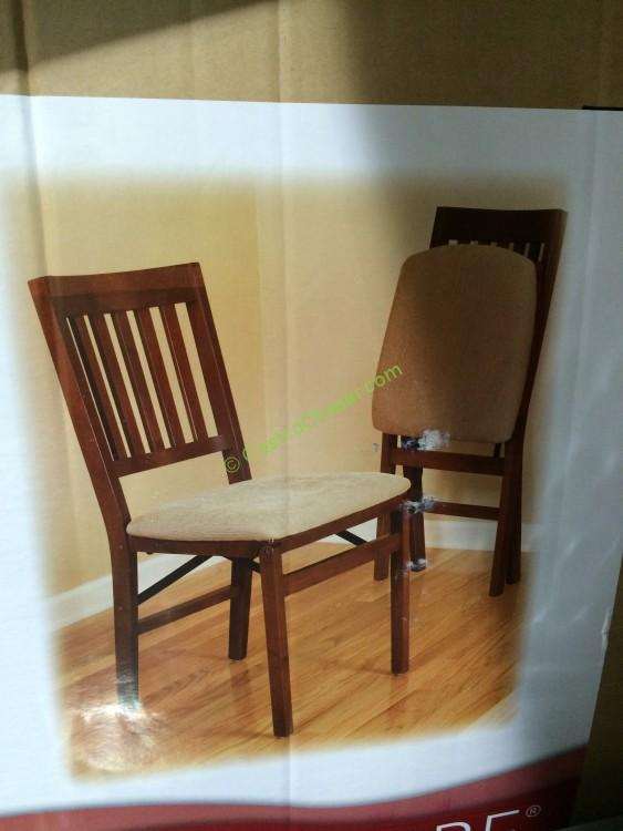 stakmore solid wood folding chair with padding seat - Folding Chairs Costco