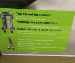 water ridge euro style kitchen faucet installation instructions