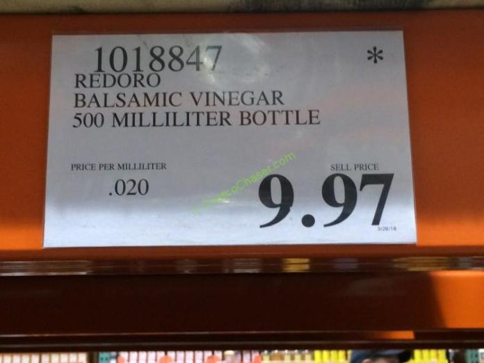 redoro balsamic vinegar of modena 500 milliliter bottle