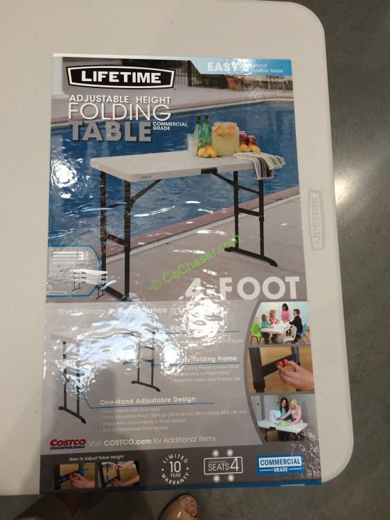 Costco 886092 Lifetime Products 4FT  2 FT Utility Table