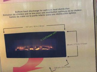 Muskoka  Curved Wall Mount Electric Fireplace  CostcoChaser - Costco electric fireplace