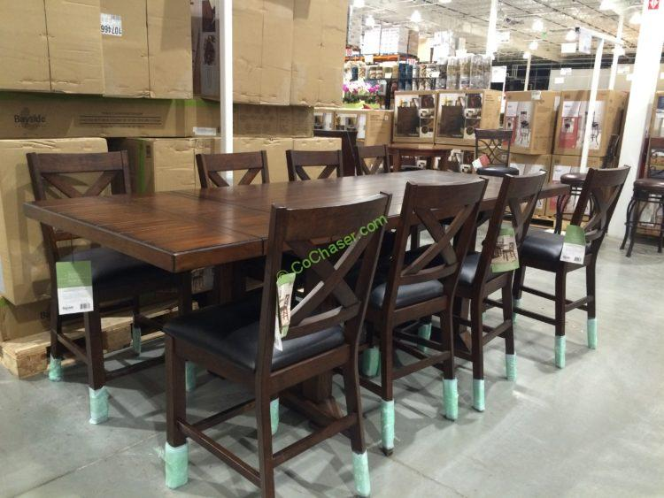 Superior Bayside Furnishings 9PC Counter Height Dining Set