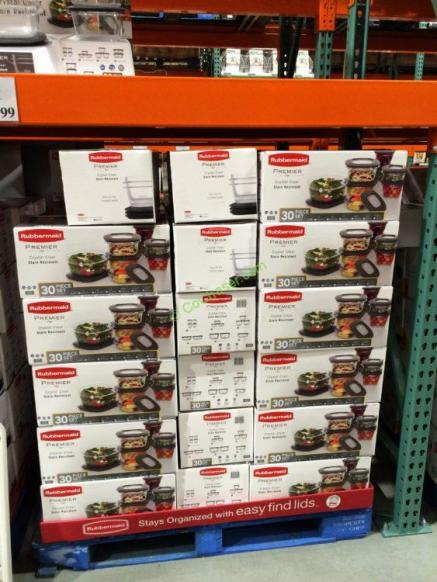 rubbermaid 30pc premier crystal clear food storage set costcochaser. Black Bedroom Furniture Sets. Home Design Ideas
