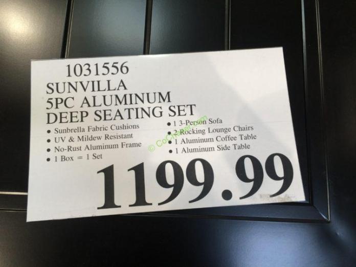 Costco-1031556-Sunvilla-5PC-Aluminum-Deep-Seating-Set-tag