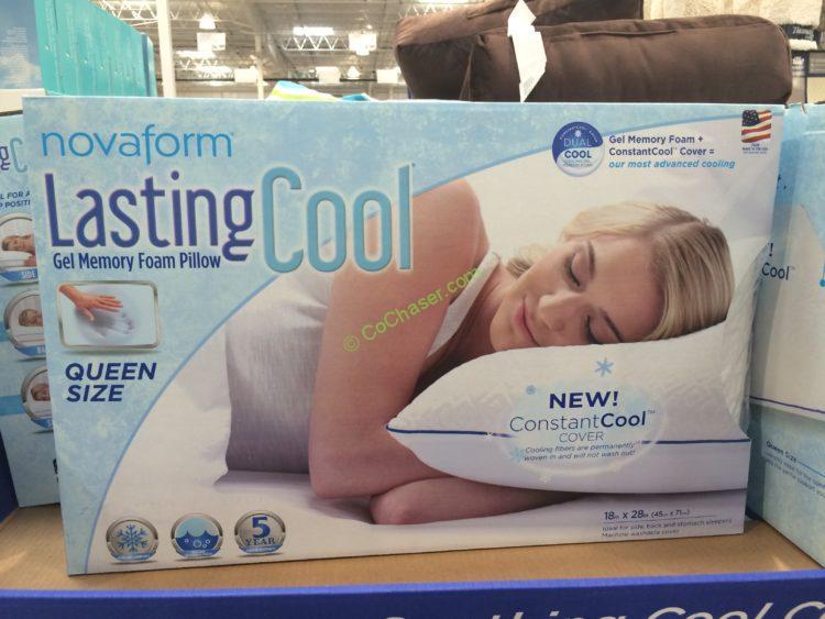 Novaform Lasting Cool Gel Memory Foam Pillow – CostcoChaser