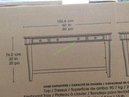 "Bayside Furnishings 60"" Writing Desk – CostcoChaser"